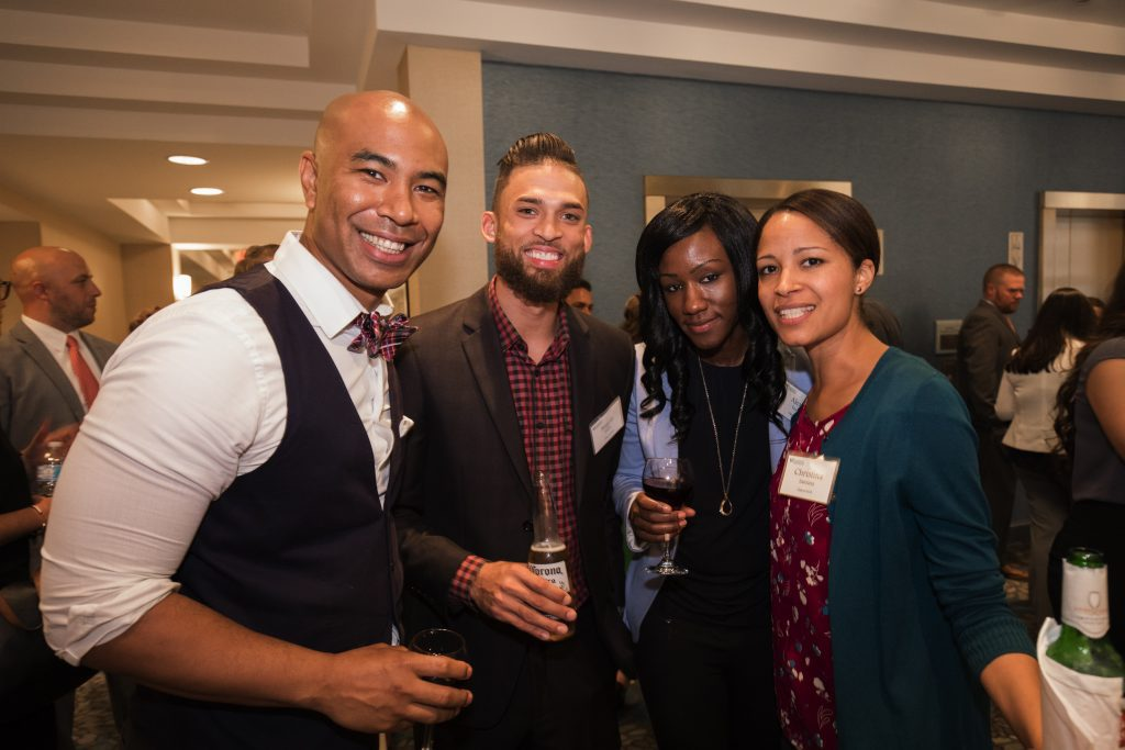 Class of 2018 at a networking event